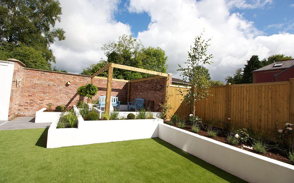 contemporary garden lisburn johnny knox garden design belfast northern ireland - Garden Design Northern Ireland