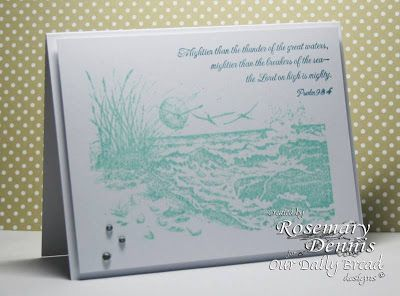 """Our Daily Bread designs """"The Mighty Sea"""" Designer Rosemary Dennis"""