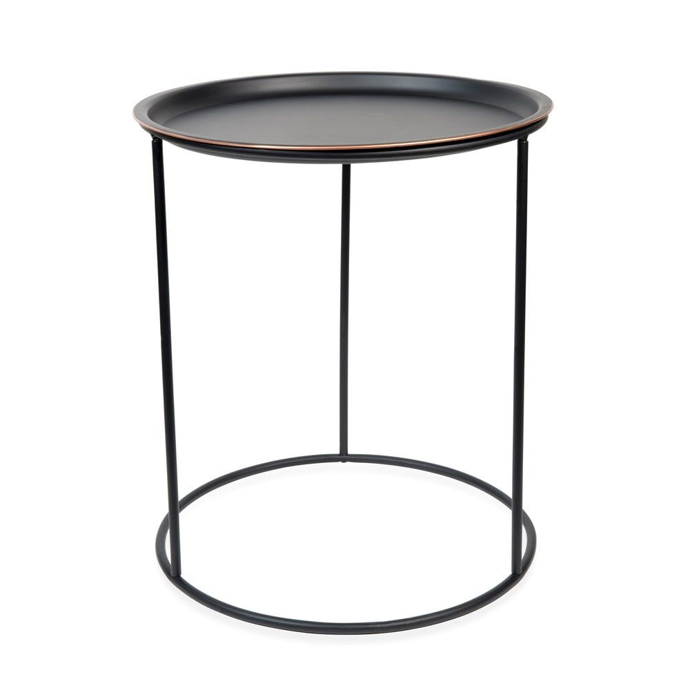 beistelltisch gary black aus metall d 40 cm schwarz metal side table side coffee table table