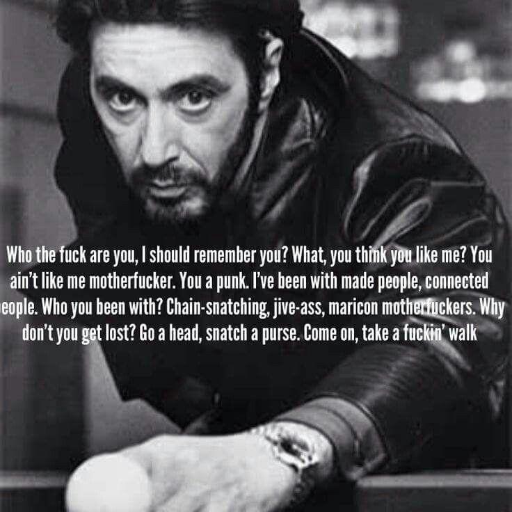 gangster sprüche auf englisch