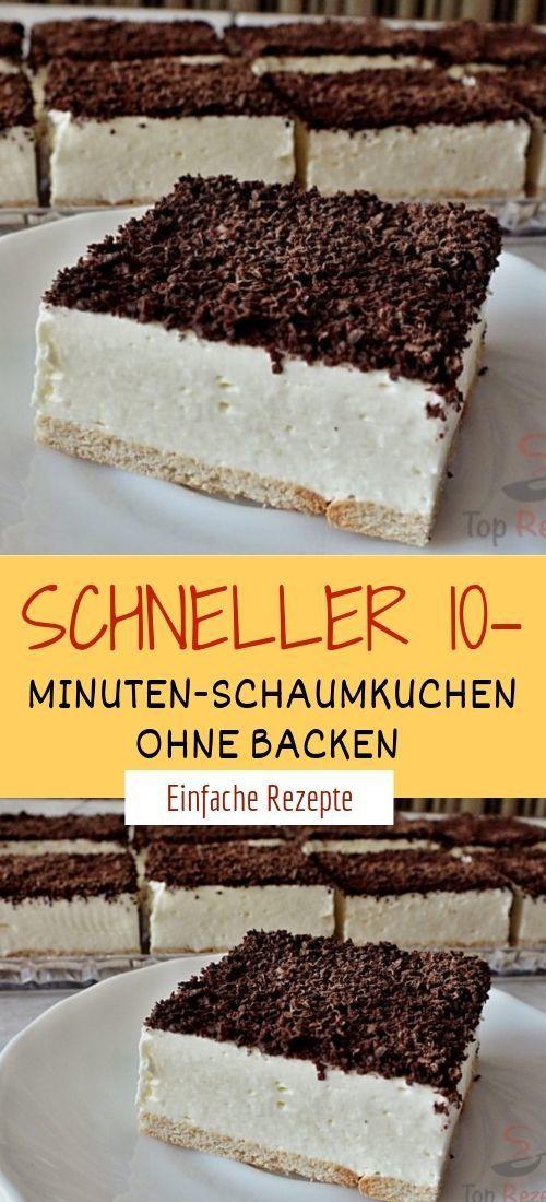 Schneller 10 Minuten Schaumkuchen Ohne Backen Einfacher Nachtisch Kuchen Und Torten Backen