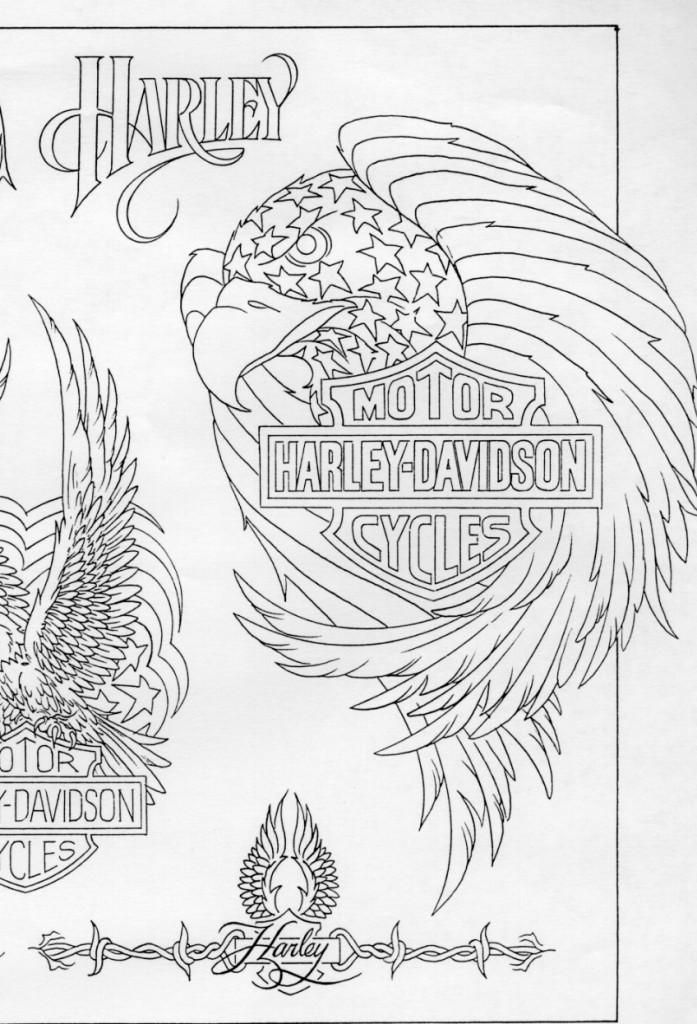 Motorcycle blueprint images 03a 697x1024 harley davidson harley davidson motorcycle eagle tattoo with blueprint paperblog malvernweather Image collections