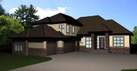 Bungalow House Plan 81111 Elevation