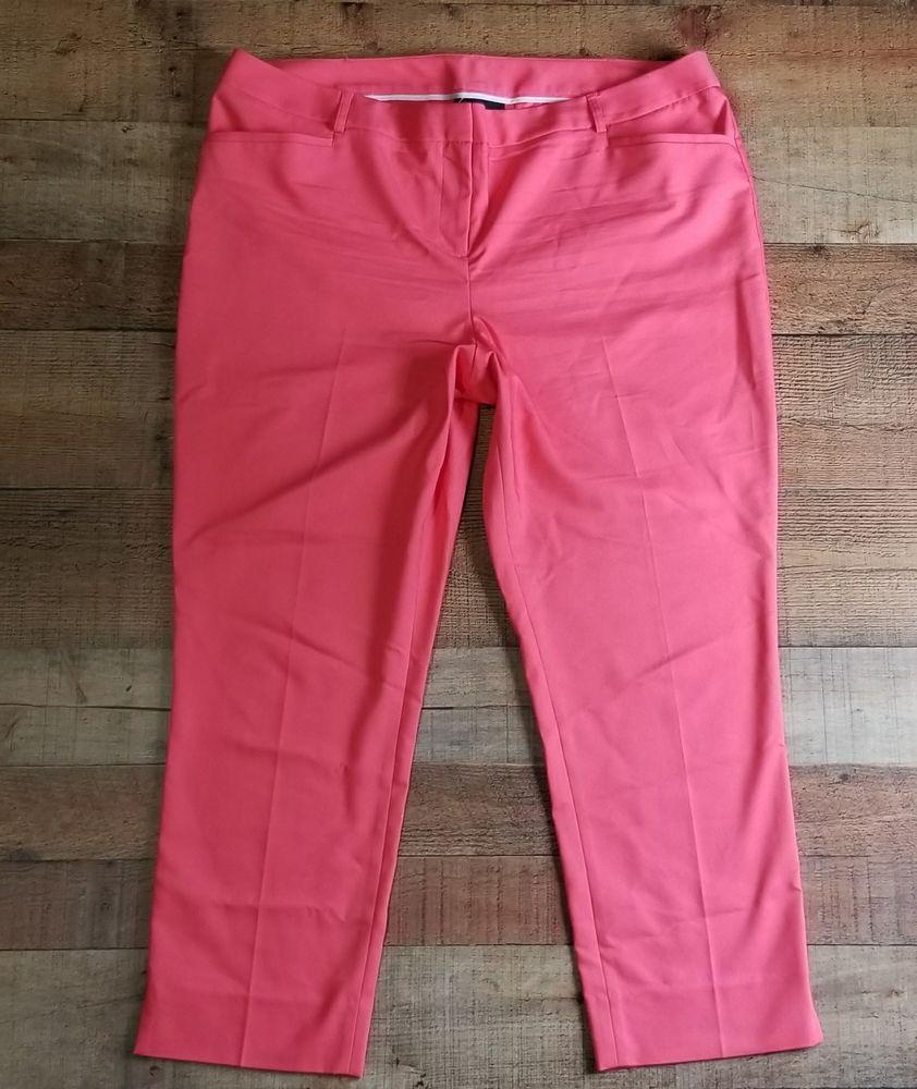 6893c84726c Lane Bryant Pants Size 20 Pink Skinny Ankle Flat front Capris DRESS pant   LaneBryant