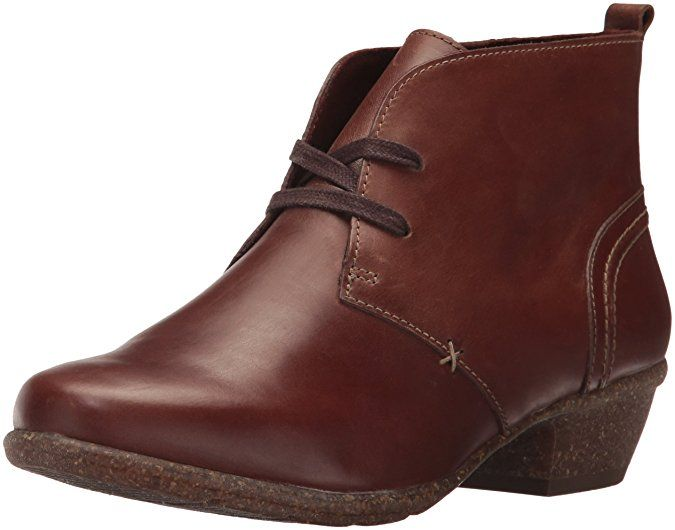 CLARKS Women's Wilrose Sage Ankle Bootie, Brown Oiled Nubuck, ...