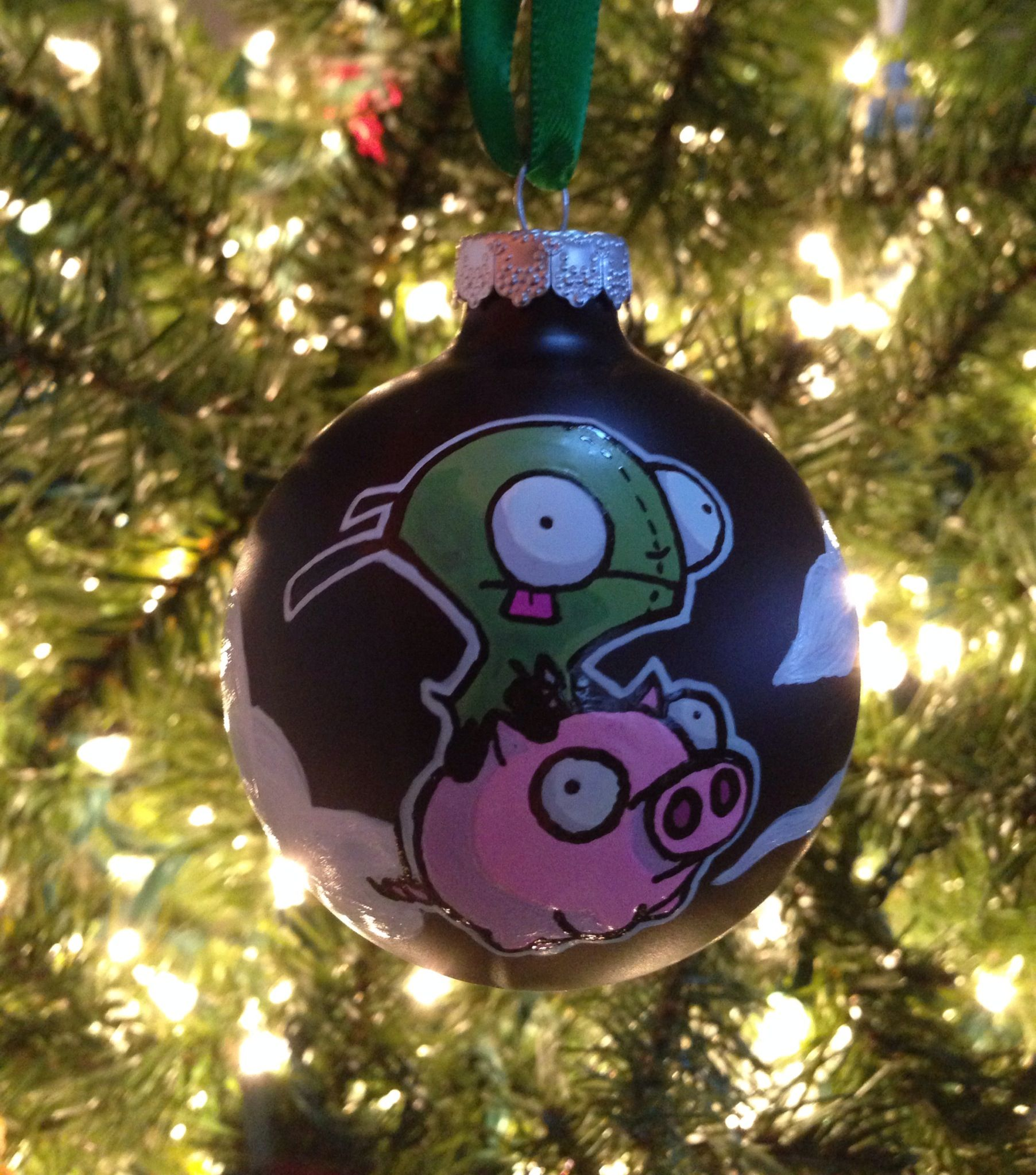 Invader Zim / Gir ornament front (1 of 2)  By K.D. Aiardo