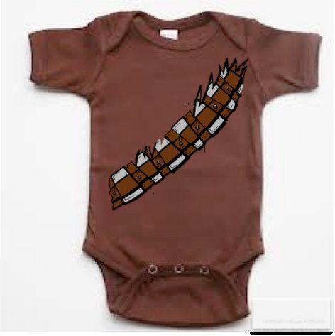 Chewbacca Wookie Onesie Star Wars baby infant bodysuit via Etsy