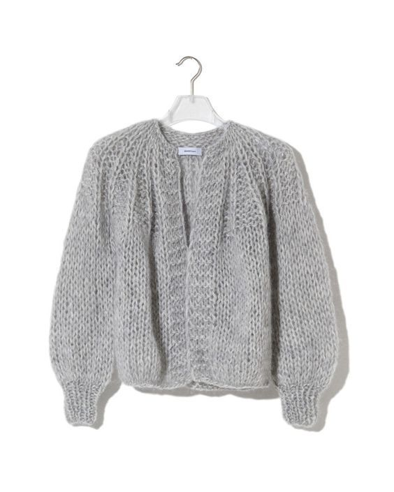 separation shoes 5e040 bbd0b Kurze Mohair Strickjacke mit Passe - Teil 1   Knitting and ...