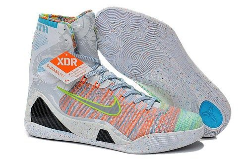 Cheap 2015 Nikes Kobe 9 Elite High-Top white rainbow XDR men shoes