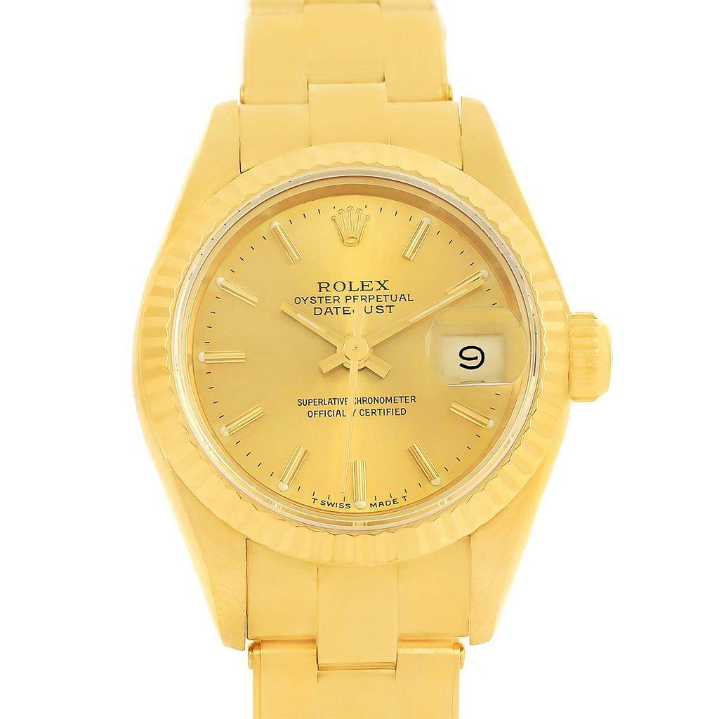 rolex president datejust yellow gold oyster bracelet ladies