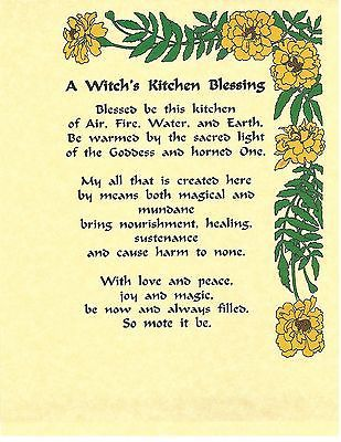 Book of Shadows Spell Pages ** Kitchen Blessing ** Wicca Witchcraft