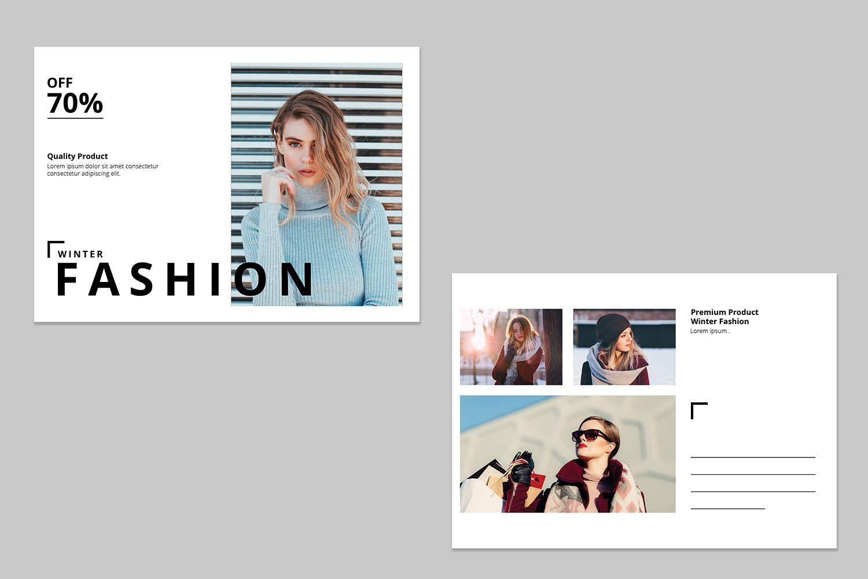 Photoshop Fashion Postcard Template   Social Media Marketing ...