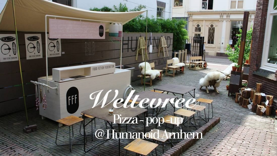 Pop-up pizza terras at the shop at HUMANOID*