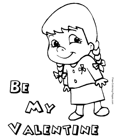 valentines day coloring pages - Be My Valentine Coloring Pages