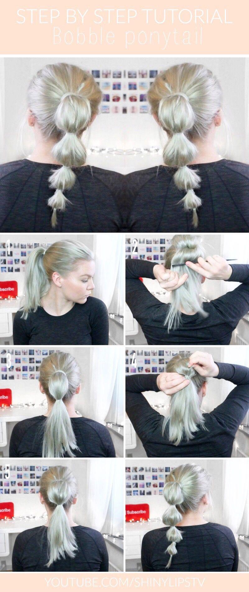 Bobble ponytail step by step bobbleponytail mediumhair