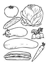 Para Colorear Con Imagenes Alimentos Para Colorear
