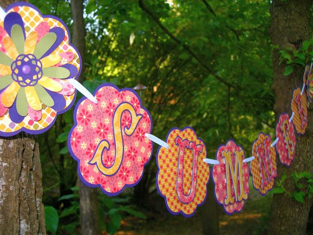 Made with pink,dark purple, peachy yellow and a touch of green     Banners Makes $$$$  http://hbb6.com/Banners1