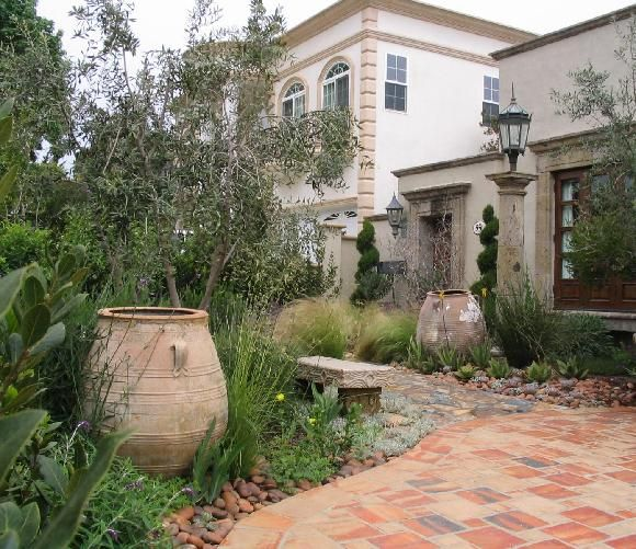 Spanish Colonial Garden That Combined Traditional Southern European  Plantings, California Natives, And Other Mediterranean Specimens Along With  Decorative ...