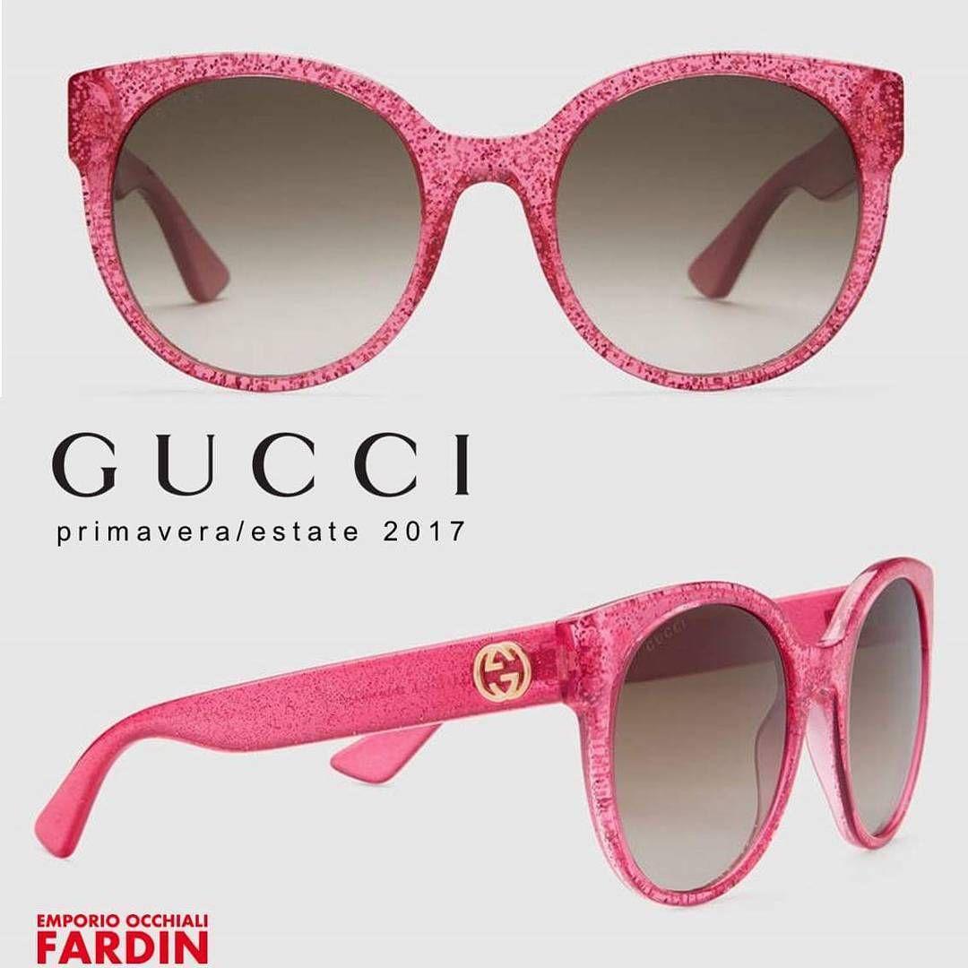 4308a6c5a3 OCCHIALI ROSA CON GLITTER GUCCI - collezione Gucci primavera/estate ...