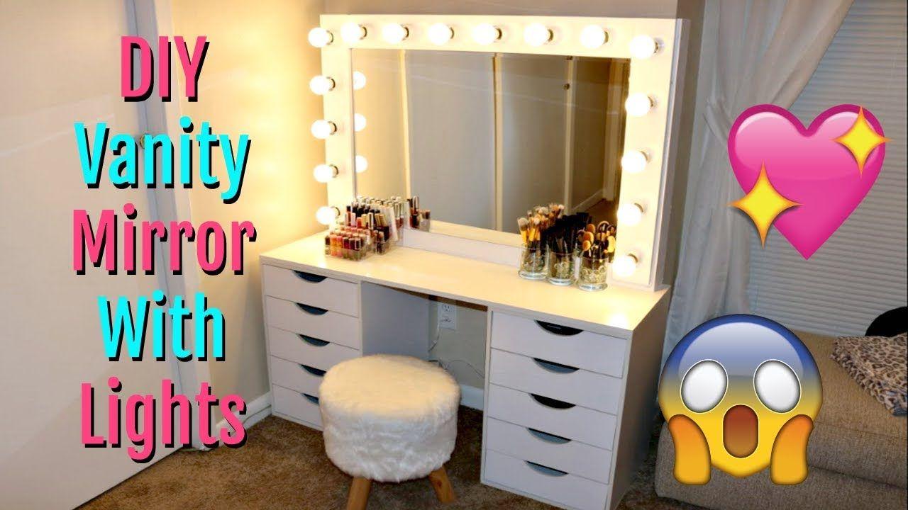Design Ideas For Best Vanity Desk With Mirror And Lights Darbylanefurniture Com In 2020 Diy Vanity Mirror Diy Vanity Mirror With Lights Diy Vanity