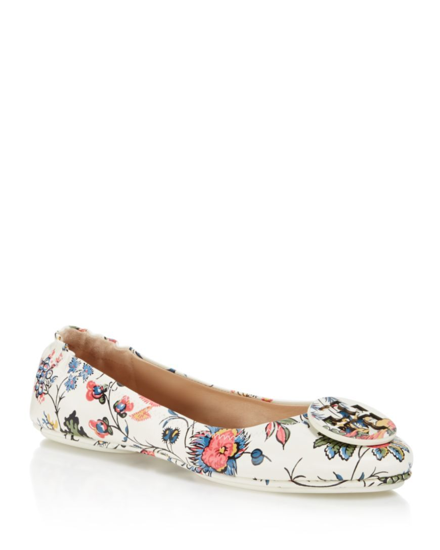 437c5b10dcc Tory Burch Minnie Floral Print Travel Ballet Flats