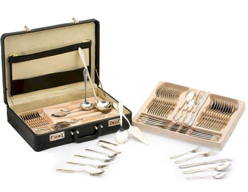 New 72 Piece T304 Surgical Stainless Steel Flatware Utensil Dinner Set & Case