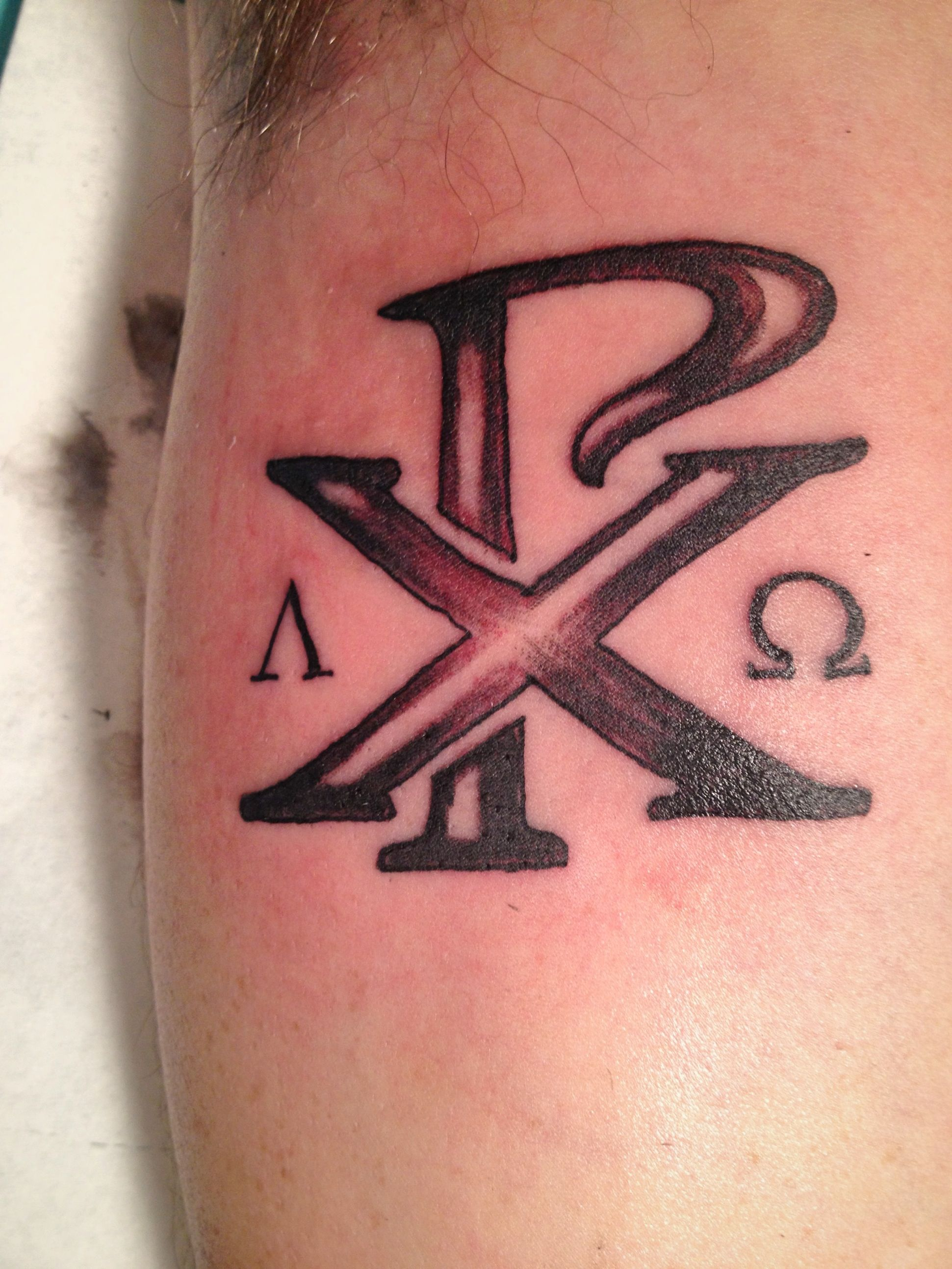 Christ in greek along with alpha and omega symbols get inked christ in greek along with alpha and omega symbols buycottarizona