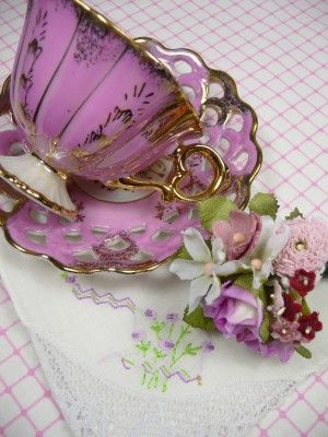 Vintage Pink Tea Cup Gift Set