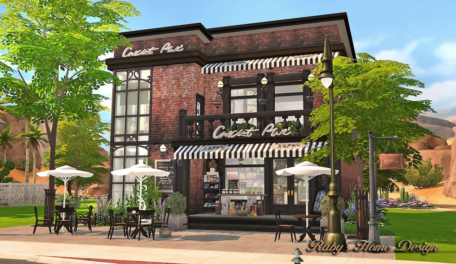 Sims4 Deli Grocery Store 小吃雜貨鋪 Ruby S Home Design Sims