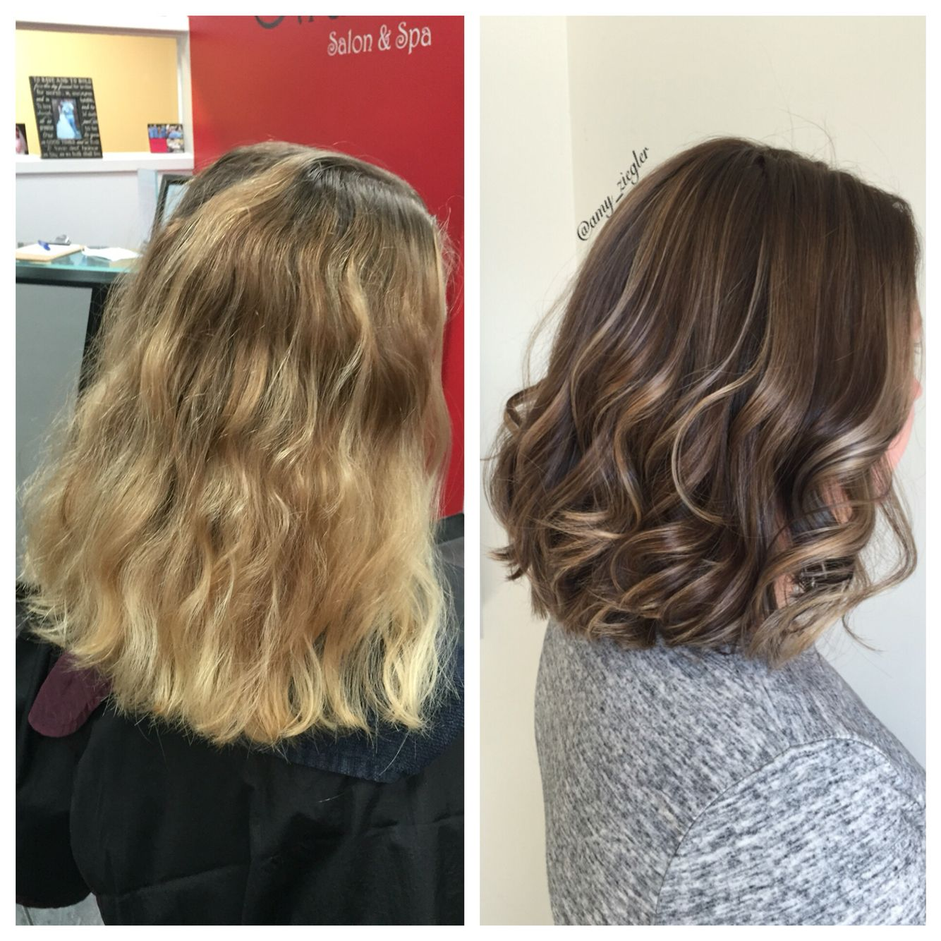 Before To After Blonde Bob Lob Hair Makeover Ideas Hair Transformation From Blonde Highlights Short Hair Short Hair Highlights Light Ash Blonde Hair Color