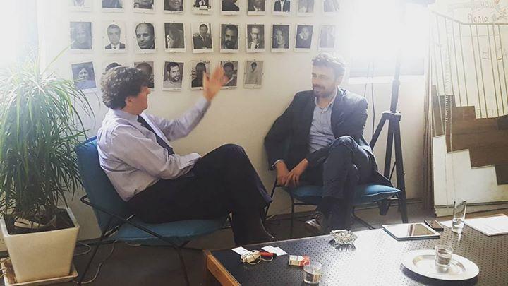 a new photo taken by theheroesclub! Aurelio García de Sola reunido con Pedro Muñoz-Baroja de #Berriup #aceleradora de #proyectos #emprendedores #TheHeroesClub http://ift.tt/23odENY