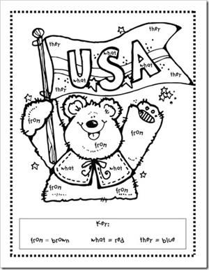 Patriotic President's Day Literacy Preschool Printable