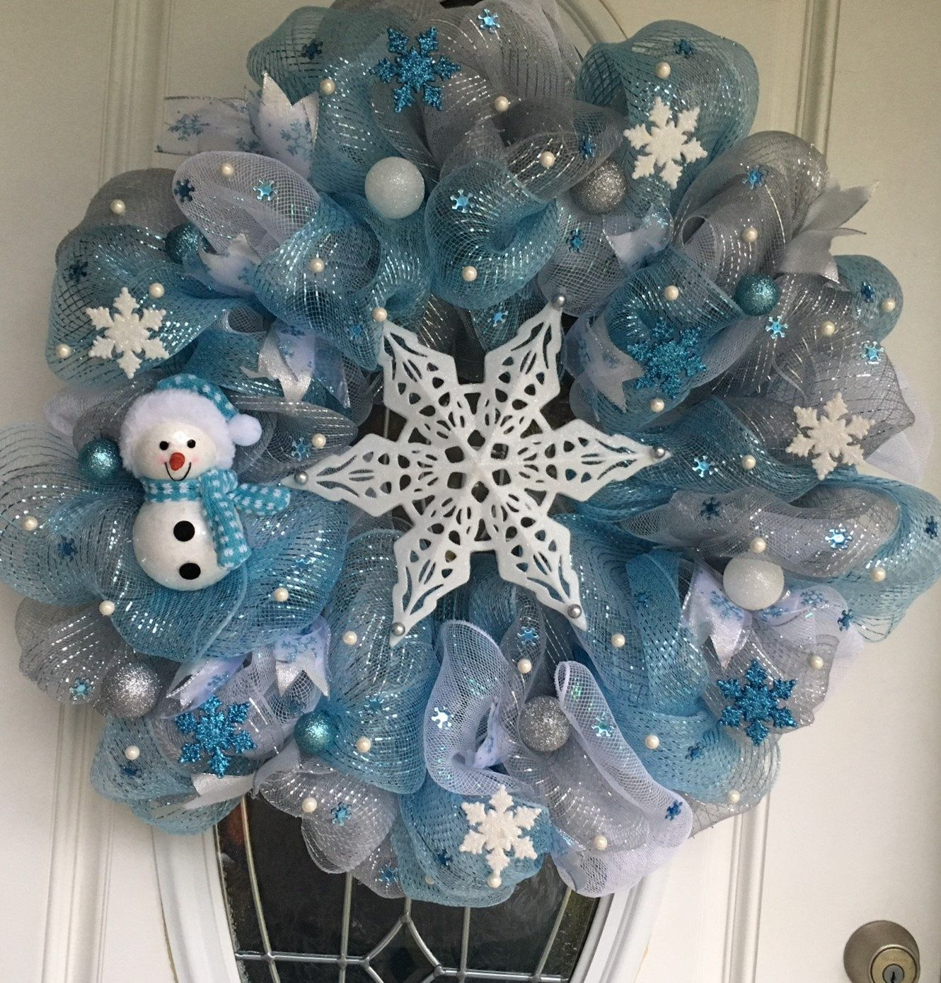 Christmas wreath for front door christmas wreath white