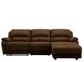 Cindy Crawford Mackenzie 3 Pc Microfiber Power Reclining Sectional