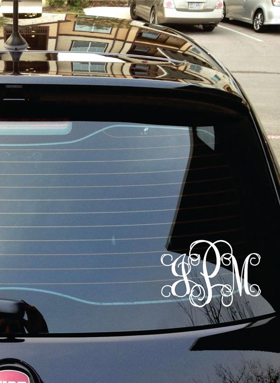 Monogram car decal car stickers personalized by lucylews on etsy 7 00
