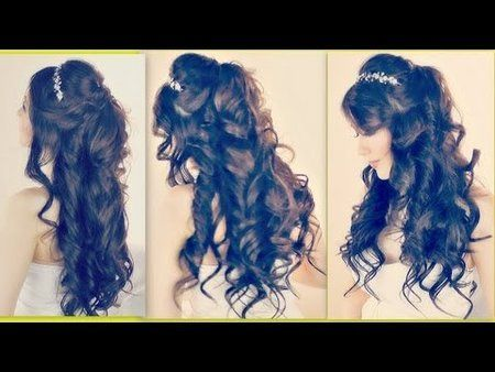 LUSH CURLY HAIRSTYLES| EASY FORMAL HALF-UP UPDO for Wedding