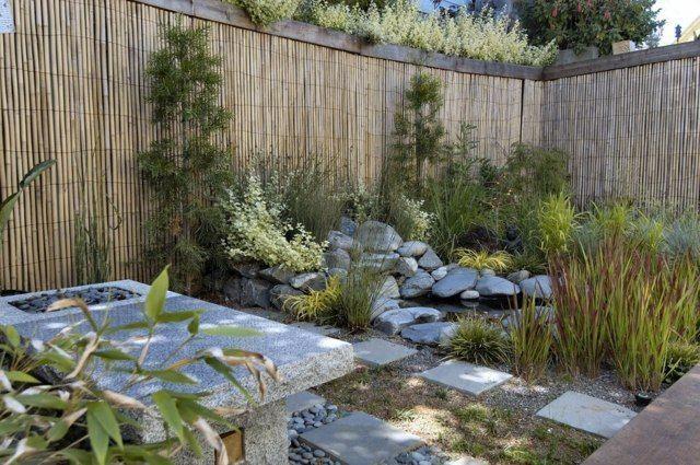 Gartenzaun Bambus Sichtschutz hoch Kleingarten abgrenzen #bambussichtschutz Gartenzaun Bambus Sichtschutz hoch Kleingarten abgrenzen #bambussichtschutz