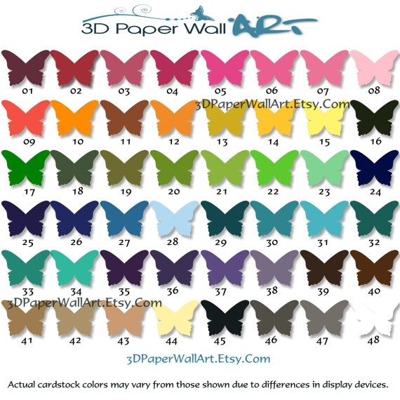 Card Stock Color Chart And Color Samples  Colors D Paper Wall