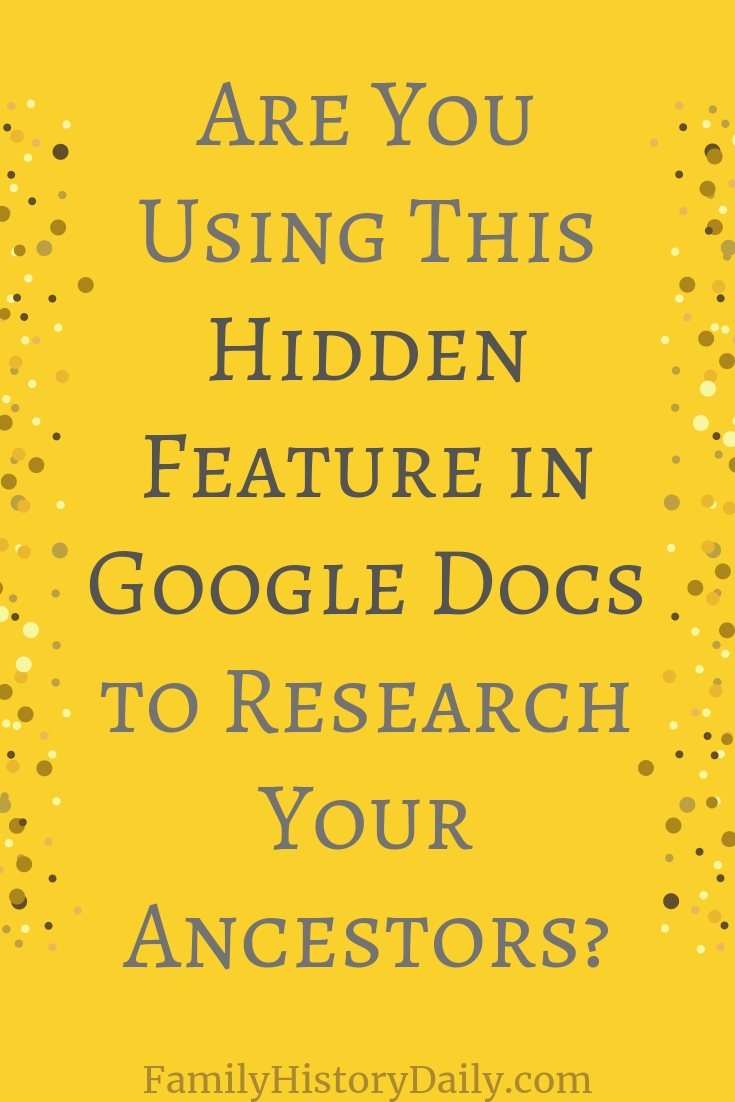 How Explore from Google Docs Can Help You Research Your Ancestors #genealogy