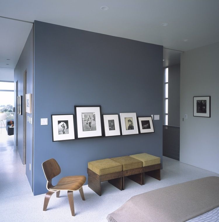 peinture bleu gris l int rieur le bleu pigeon et le. Black Bedroom Furniture Sets. Home Design Ideas