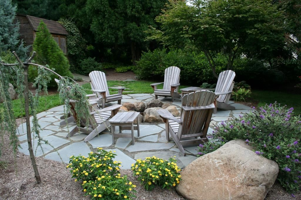Beau Random Flagstone Patio Provided By Willow Gates Landscaping U0026 Pavers  Mohnton 19540 · Fire Pit SeatingPatio ...