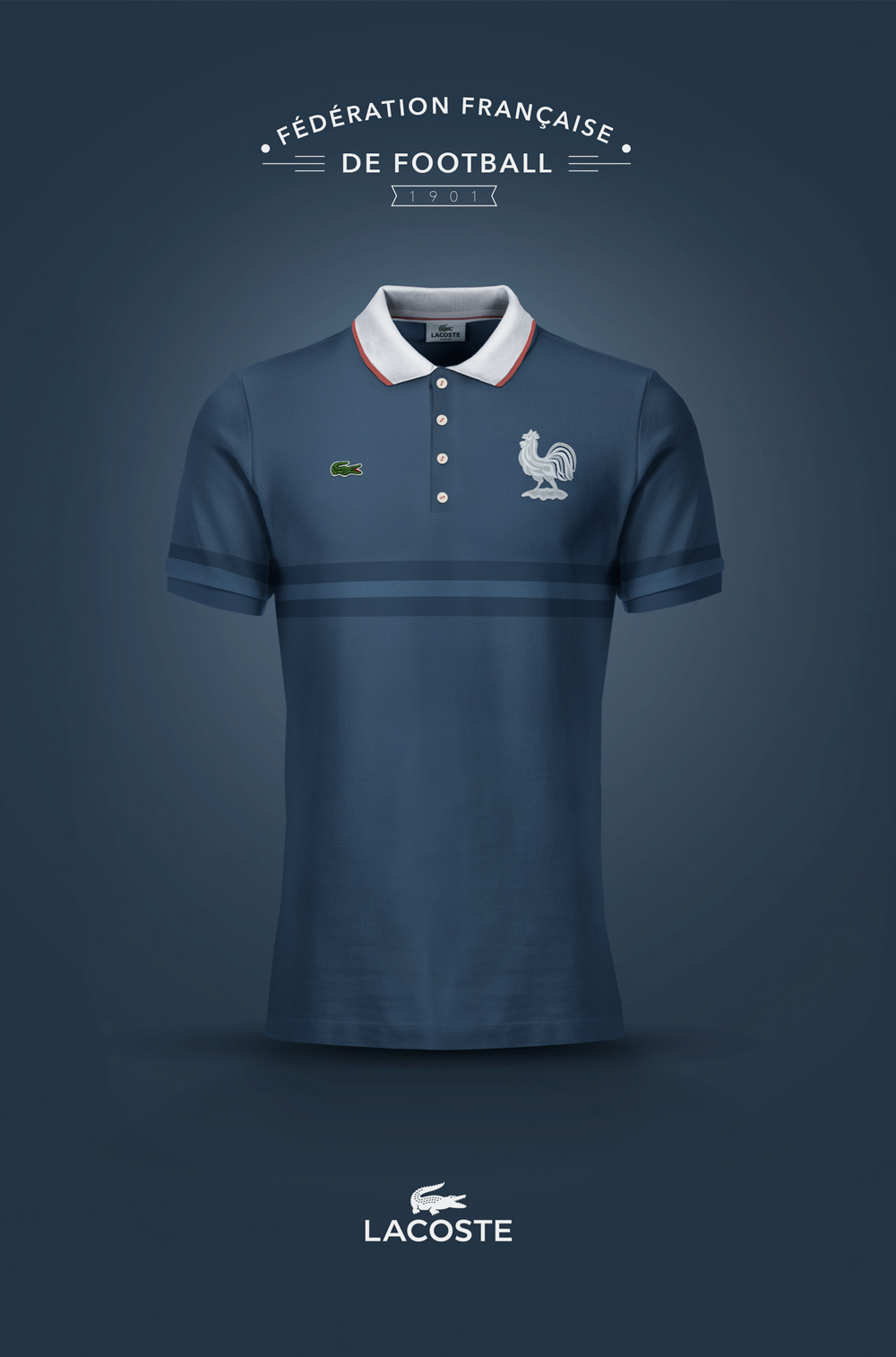 National Football kits reimagined with Local Brand sponsorship by Emilio  Sansolini - France x Lacoste 5d97abc72