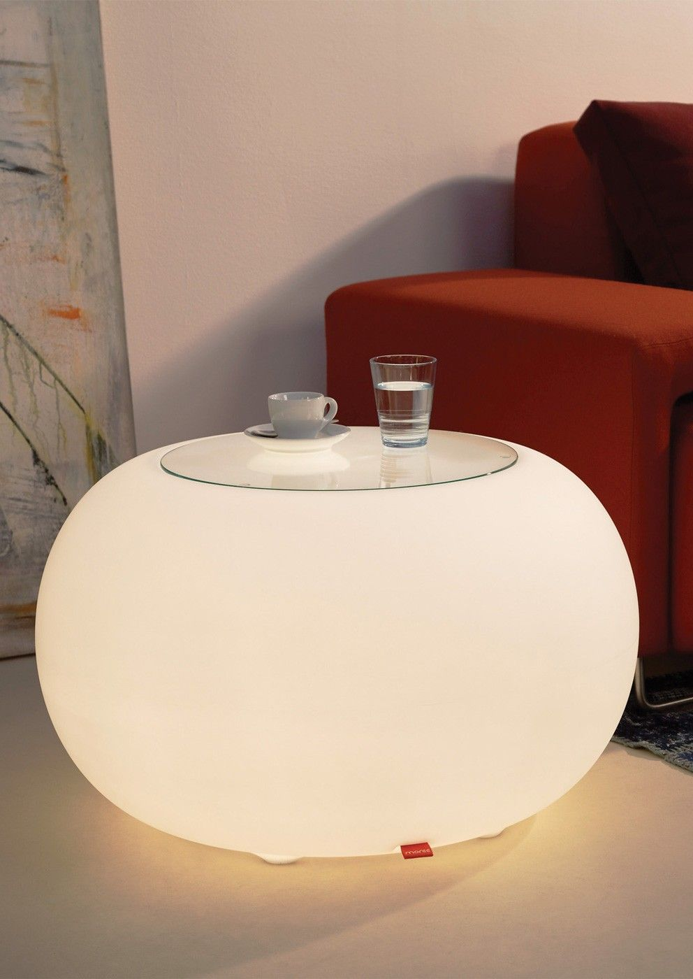 Brighten up your living room with this funky indoor bubble light up table by german high