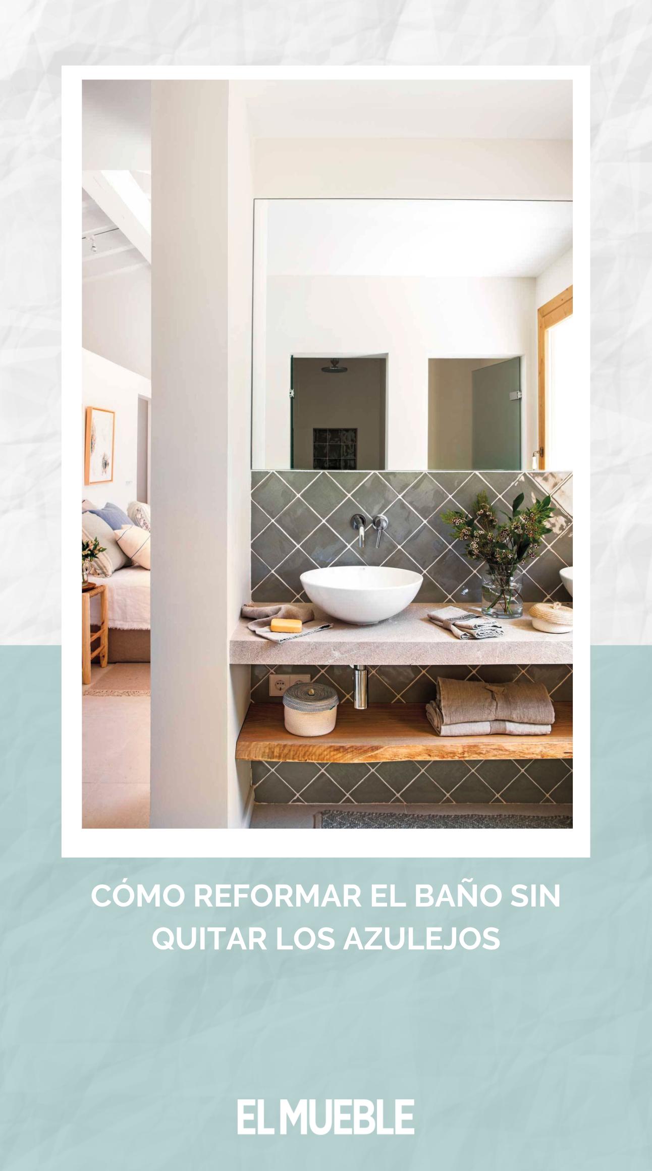 Cómo reformar el baño sin quitar los azulejos   Diseño de ...