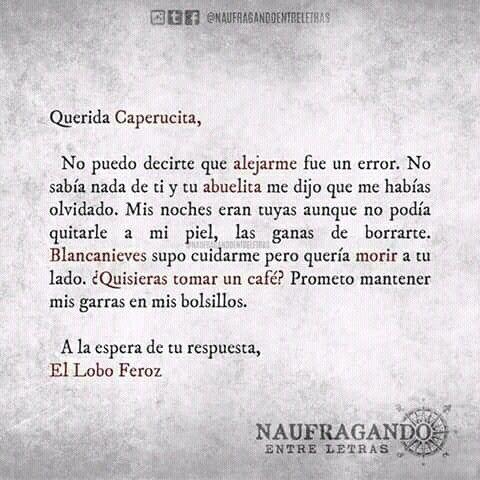 Carta 5 La Verdadera Historia De Caperucita Y El Lobo Pinterest
