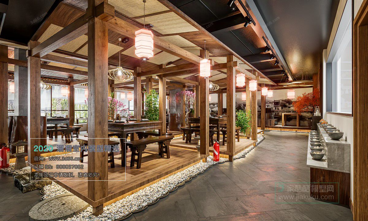 Download 3d66 Models In 2020 Chinese Restaurant 3d Model Restaurant