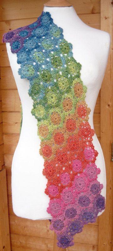 IRIS Crochet Scarf PDF Pattern by AmandaPerkinsDesigns on Etsy