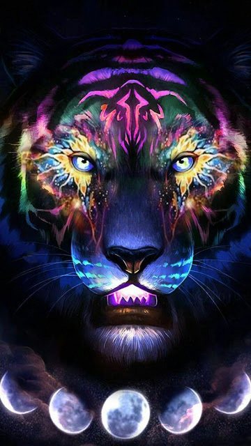 Android Phone Android In 2020 Tiger Art Lion Art Big Cats Art
