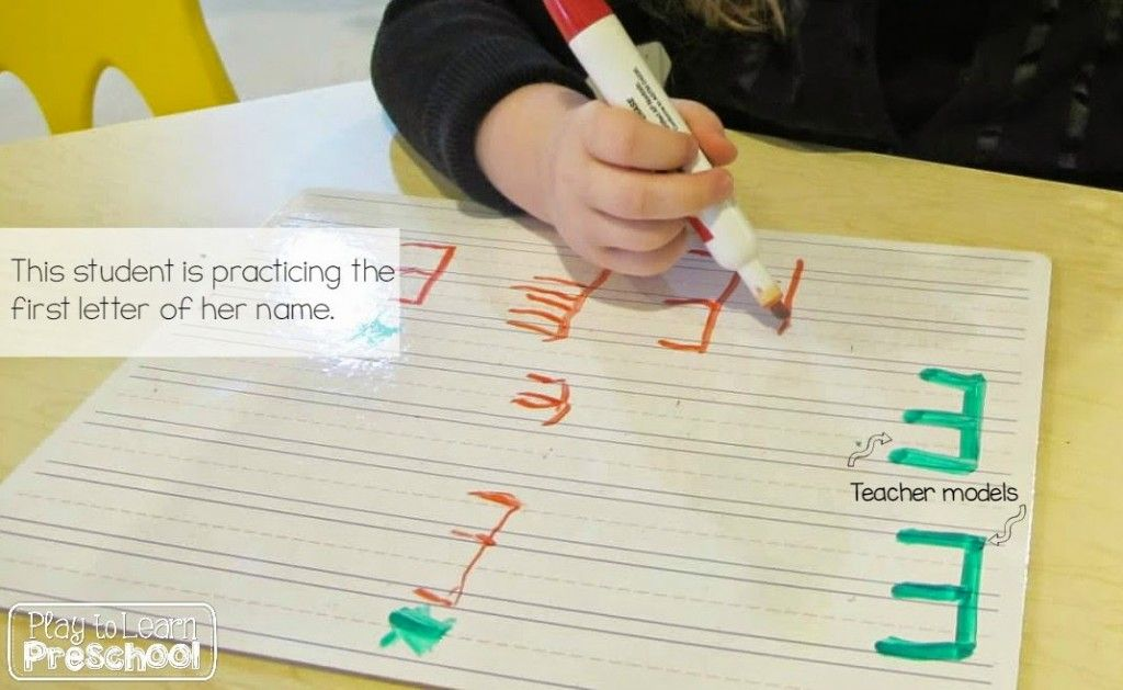 Writing our Names - Play to Learn