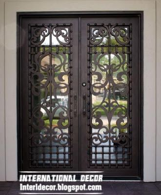 Italian Wrought Iron Glass Door Inserts For Modern Houses Wrought Iron Glass Door Wrought Iron Doors Wrought Iron Glass